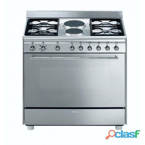 SMEG   90cm 4 Burner Gas/ 2 Electric Cooker   Model: SSA92MFX9