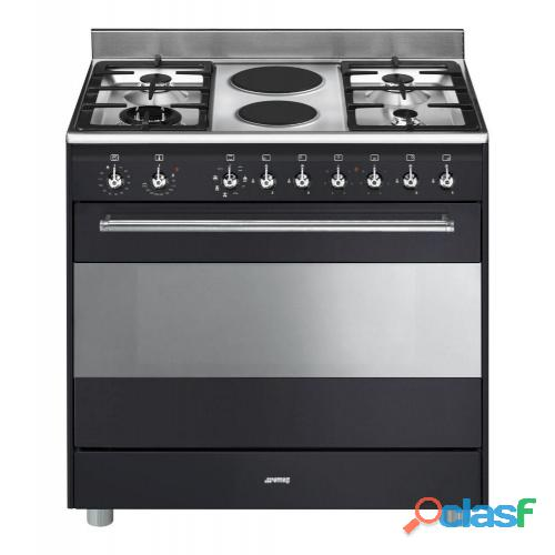 Smeg 90cm Anthracite Concert Cooker & Multifunction Oven   SSA92MAA9