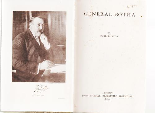 General botha by earl buxton. biography of a boer hero