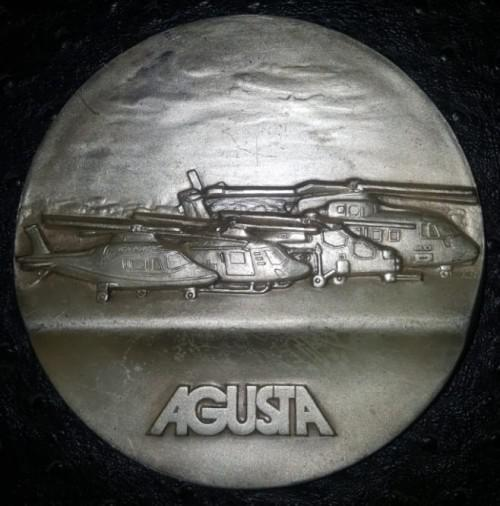 Large Agusta Military Helicopters Plaque Medal
