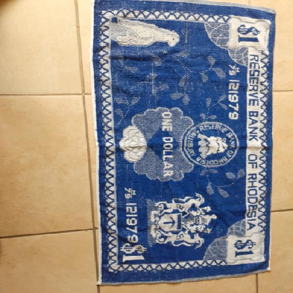 Rhodesia reserve bank 1$ banknote towel