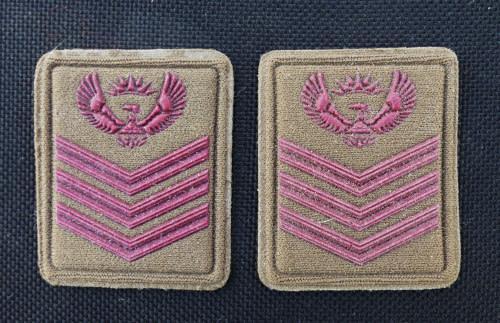 Set of sandf staff sargent rank -- cloth rank