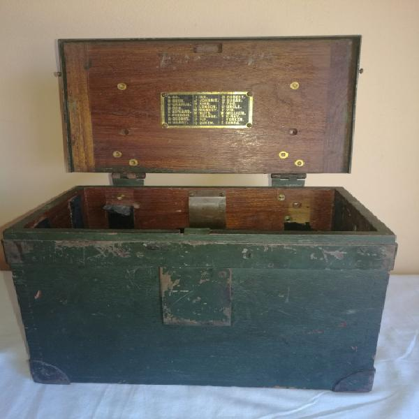 Very unusual vintage box for field telephone or telegraph