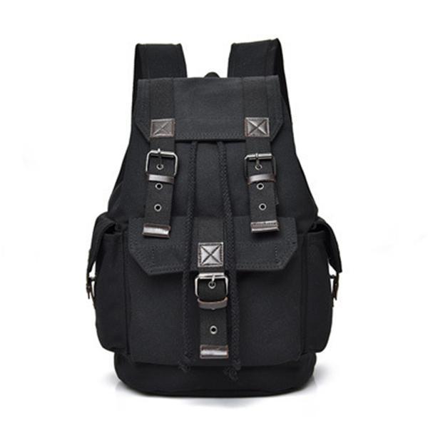 25L Vintage Canvas Backpack School Satchel Rucksack Shoulder