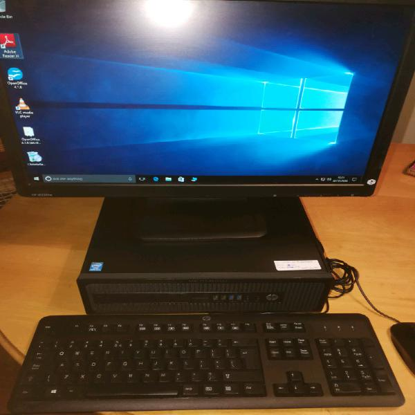 "Complete hp i5 elitedesk with hp 22"" monitor"