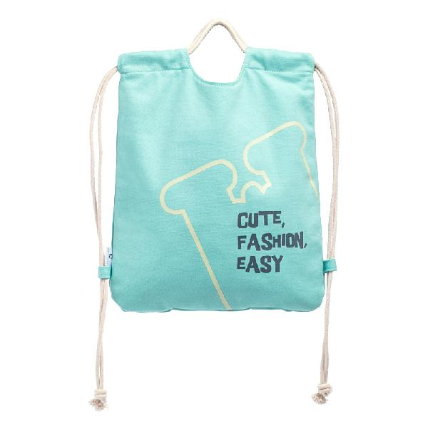 Jordan&judy 2l drawstring canvas backpack leisure shoulder