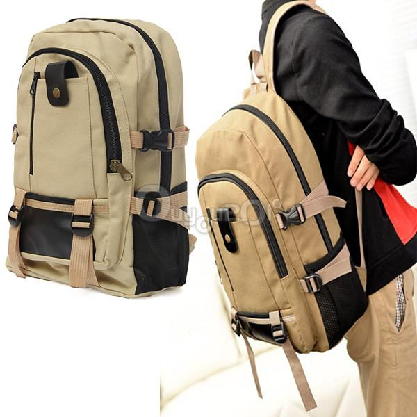 Outdoor camping traveling hiking backpack rucksack canvas