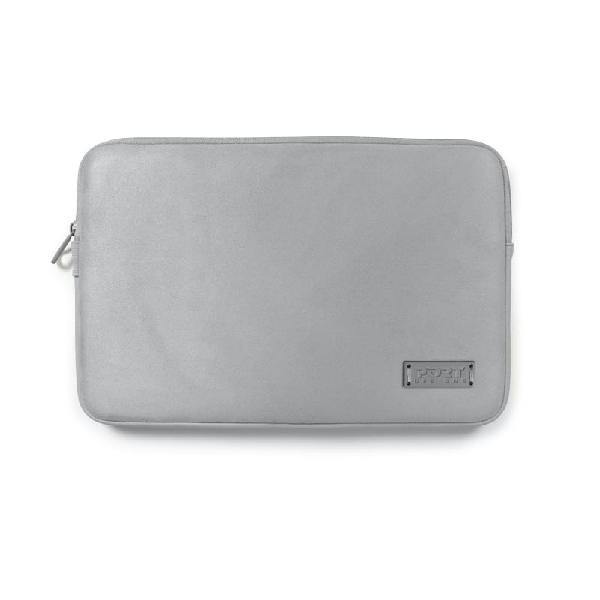 Port designs milano 13 notebook sleeve silver and grey