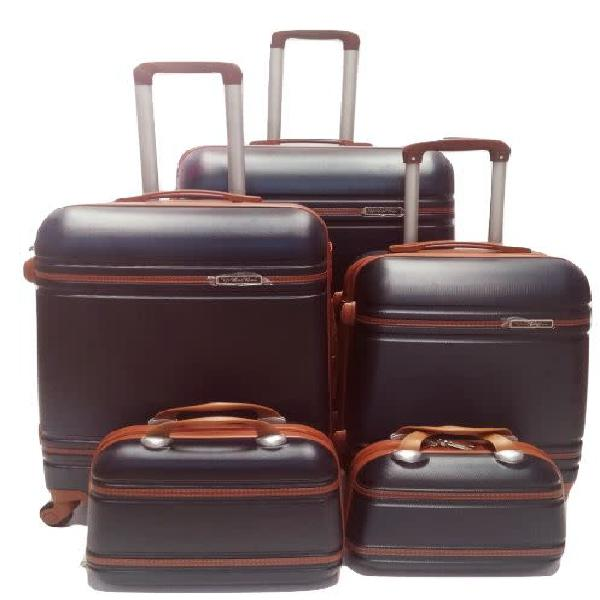 Set of 5 suitcases travel trolley luggage