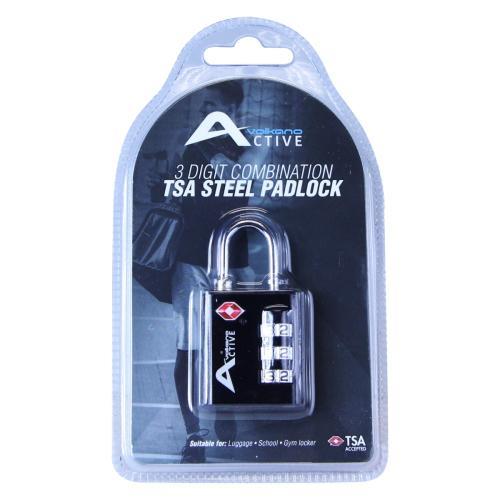 Volkano Active Safe Series TSA Steel PadLock