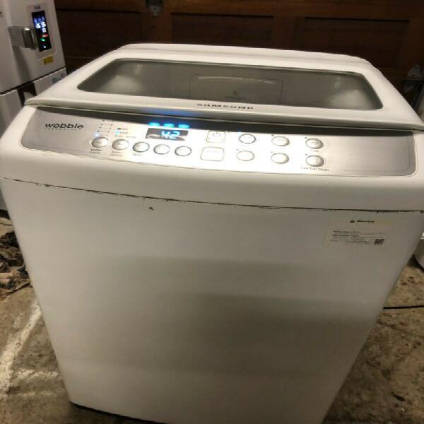 Washing machine - samsung 9kg top loader in white -