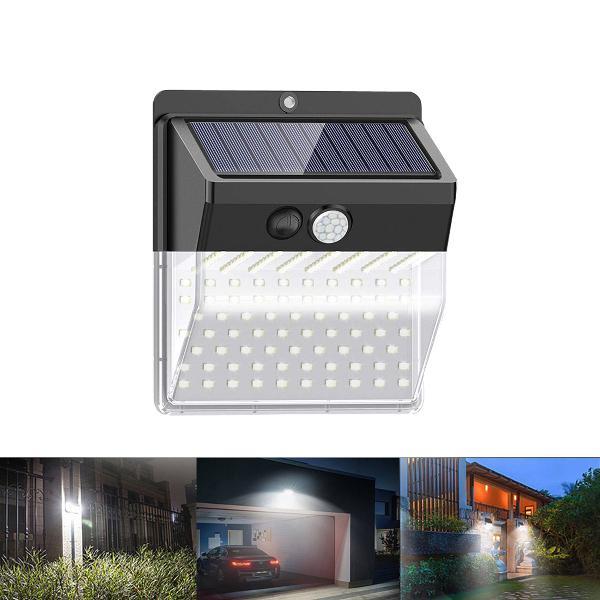 136 led solar motion sensor light security outdoor light