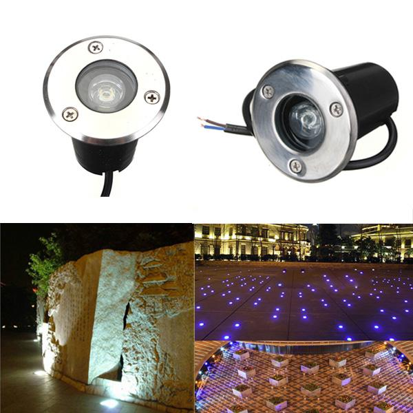 1w led waterproof outdoor in ground garden path flood
