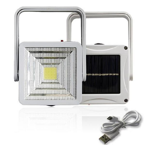 2w rechargeable portable solar led flood light outdoor
