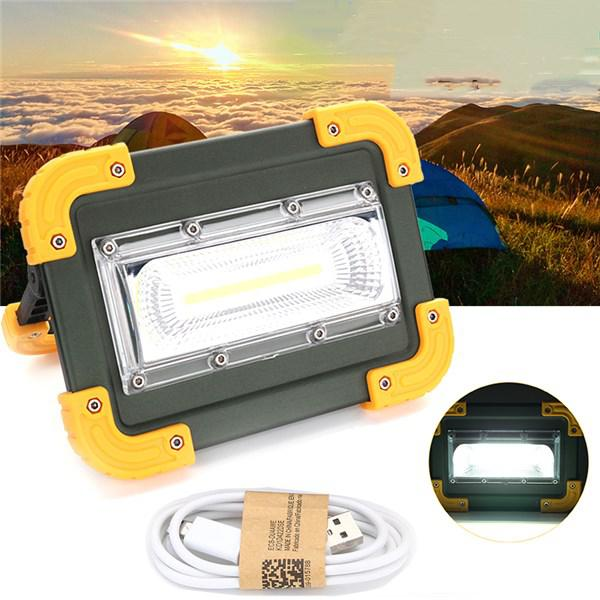 30w portable usb rechargeable cob led camping light outdoor