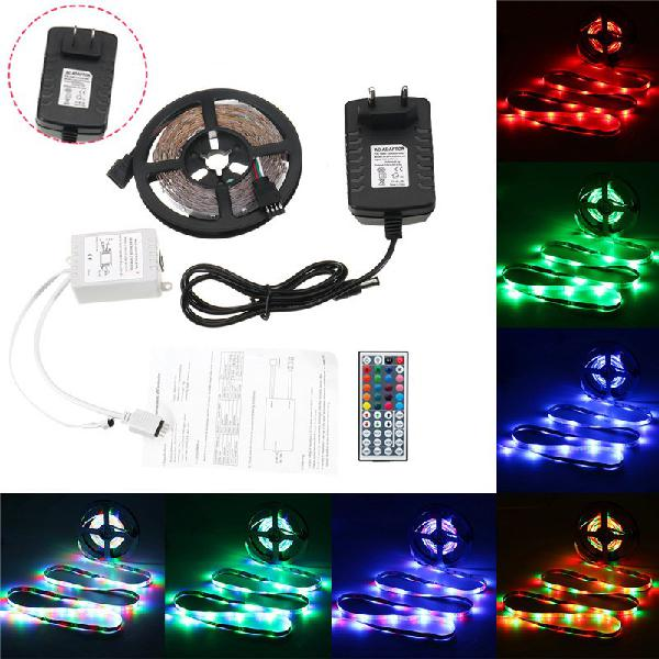5m 24w waterproof 3528smd rgb led strip lights + 44 keys