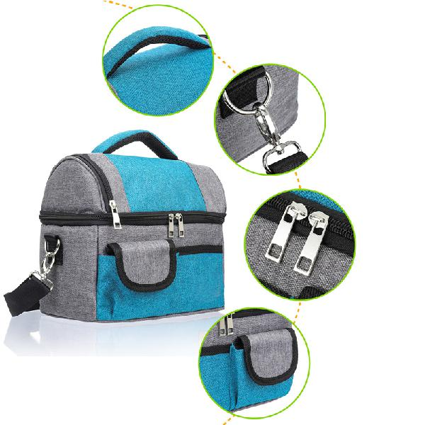 8l portable picnic bag insulated cooler lunch bag food