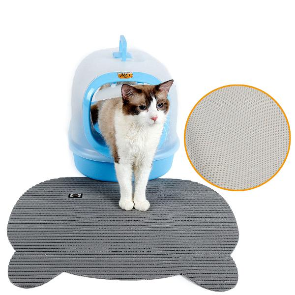 Cat litter tray mat eva two layers kitten scatter car floor