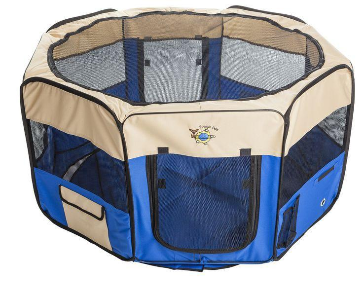 Collapsible Pet Pen Extra Large -Blue - XLarge / Blue