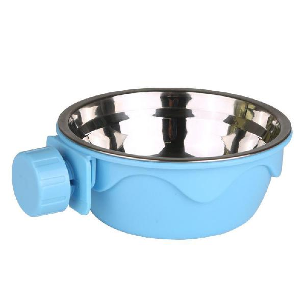 Dog cat hanging bowl stationary drinking bowl stainless