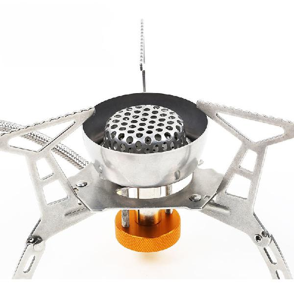 Hewolf portable outdoor gas stove stainless steel split type