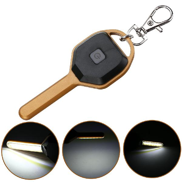 Mini cob led key chain flashlight portable keyring light