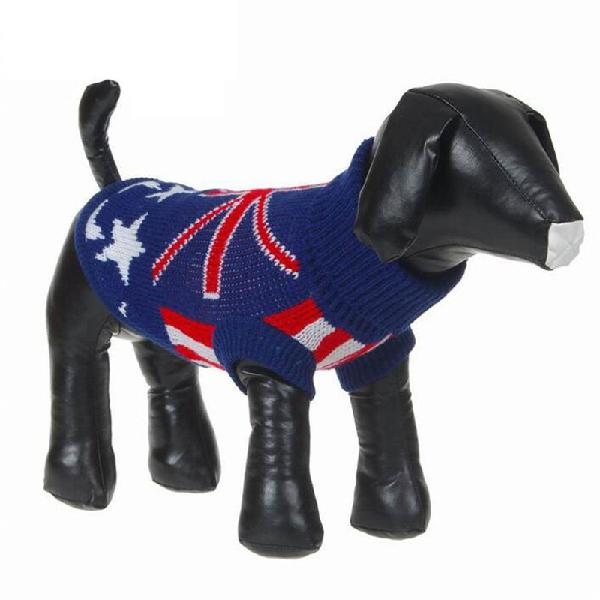 Pet dog cat clothes sweater winter coat hoodie uk star style