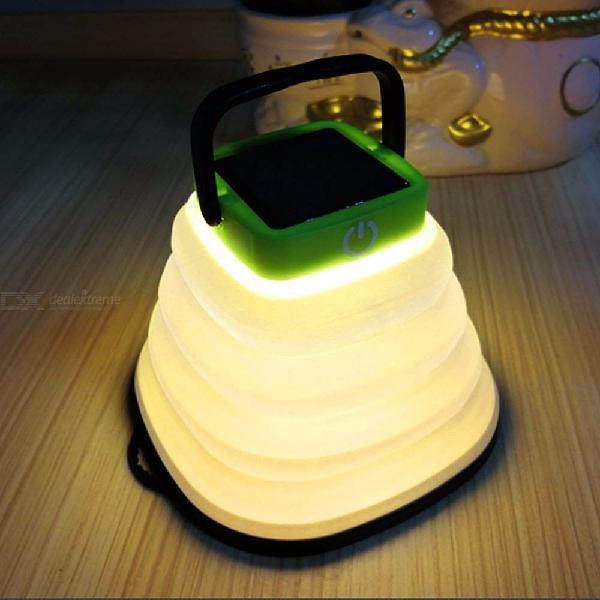 Portable solar lantern foldable usb rechargeable led lamp