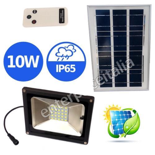 Solar light led smd panel lamp light ip65 10w 6000k garden