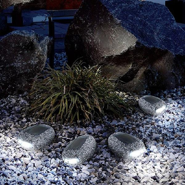 Solar energy stone style outdoor waterproof garden led