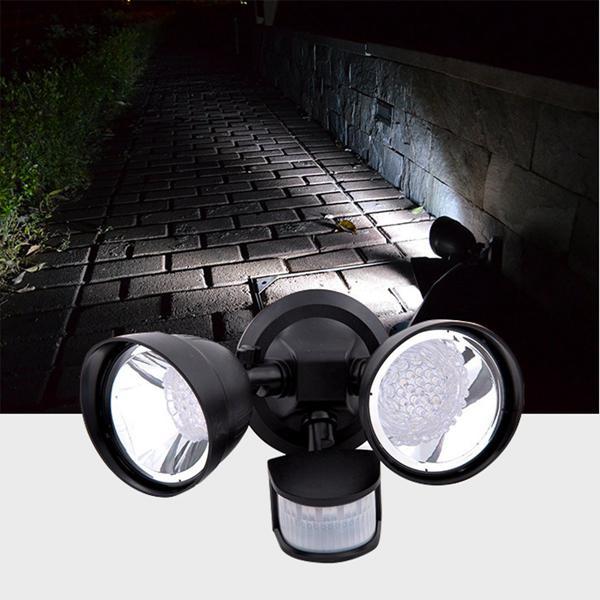 Solar power 36 led pir motion sensor spot wall light outdoor