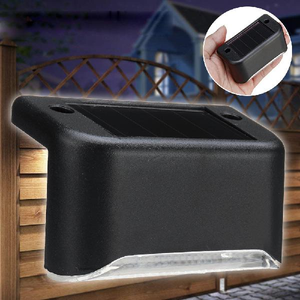 Solar powered led light outdoor garden security wall light