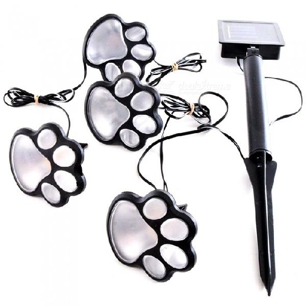 YWXLight Paw Print Shape Solar Garden Light Kit for Outdoor
