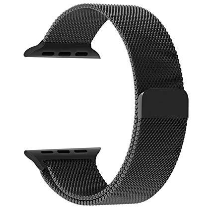 Apple watch band, penom fully magnetic closure clasp mesh