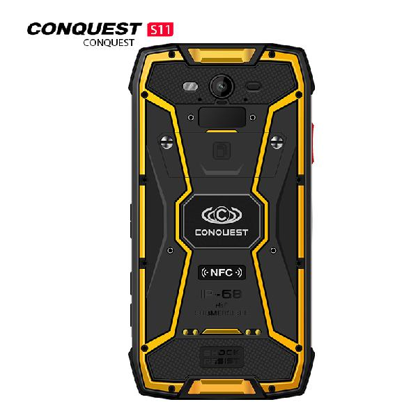 Conquest s11 smartphone yellow 128gb - 0.88kg