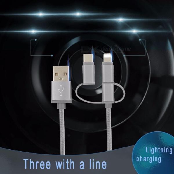 Durable Nylon Braided USB To USB 3.1 Type-C / Lightning /