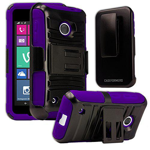 Nokia lumia 530 case, caseformers duo armor purple for nokia