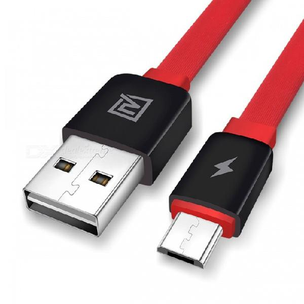 Remax flat micro usb data cable, 2.1a dual usb side fast