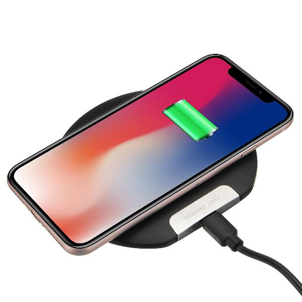 Ultra thin 10w qi wireless charger fast charging phone