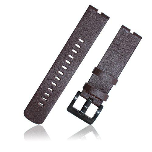XIEMIN 22MM Leather Strap Watch Band for Motorola Moto 360