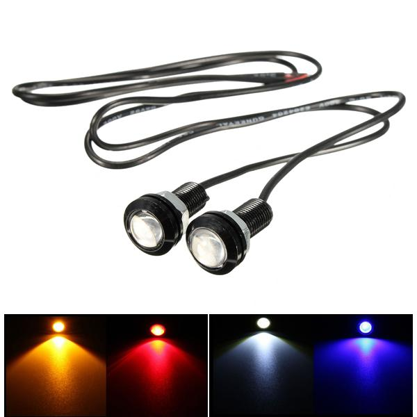 12v 3w 18mm car motorcycle led eagle eye plate license