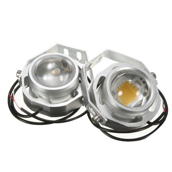 2x 12v-32v 10w white light led road spot lamps fog spot