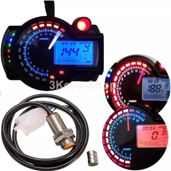 All-in-one motorcycle odometer speedometer tachometer gauge