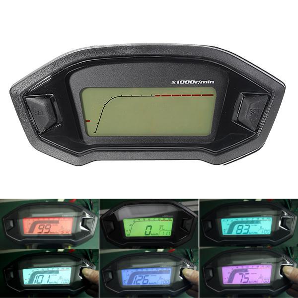 Motorcycle digital speedometer motor lcd odometer seven
