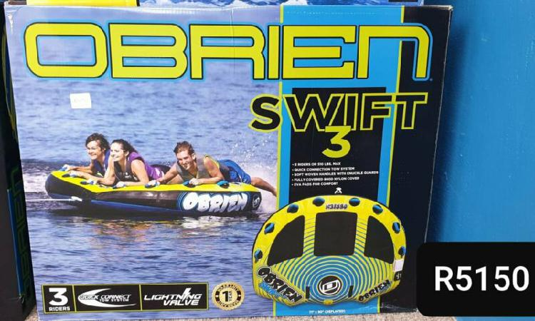 Obrien swift 3 seater tube. brand new. can be delivered