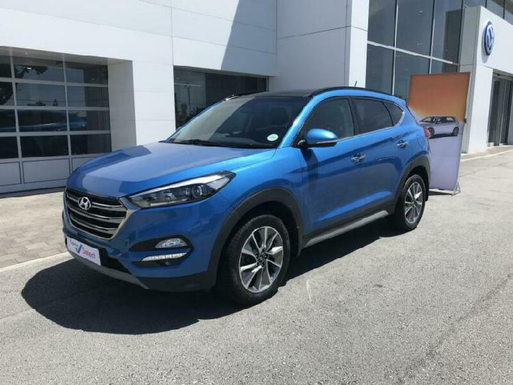 2018 hyundai tucson r2.0 crdi elite at, blue with 37000km