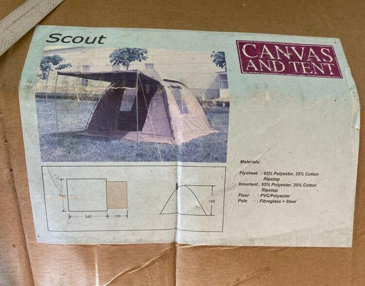 Tent - brand new & unused scout 4 man by canvas and tent -