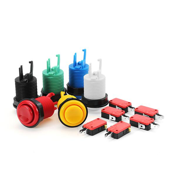 33mm 28mm white black blue red yellow green long push button