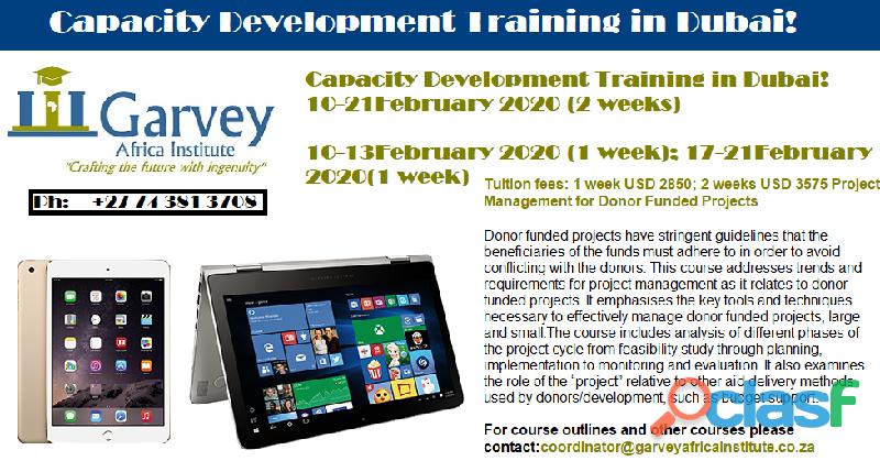 Capacity development training in dubai!
