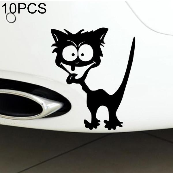 10 pcs cat pattern car styling sticker reflective waterproof